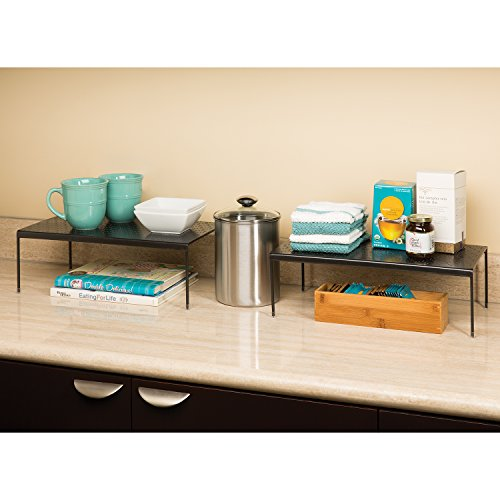 Seville Classics Expandable Kitchen Counter Cabinet Shelf Gun Metal Buy Online In Uae
