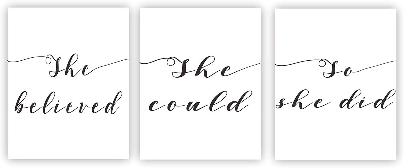 She Believed She Could So She Did Motivational Wall Art Canvas Prints Home Decor Inspirational Wall Décor Motivational Wall Art Inspirational Quote Poster Home Office Décor Unframed