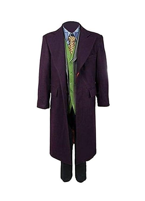 Herren Lila Mantel Outfit Joker Anzüge Dunkler Ritter