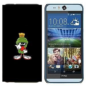 TECHCASE---Cubierta de la caja de protección para la piel dura ** HTC Desire Eye ( M910x ) ** --MARCIANO DIVERTIDO