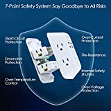 USB Wall Charger Surge Protector 5 Outlet Extender