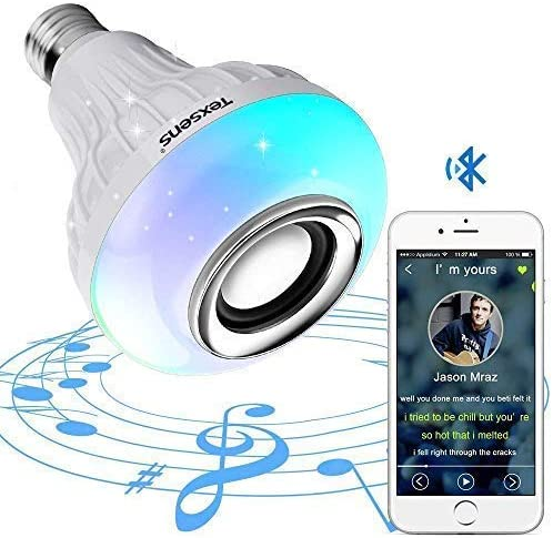 Texsens Bluetooth Light Bulb Speaker Generation II Smart LED Music Lamp