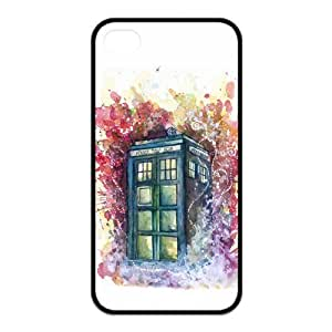 Custom Police Call Box Tardis Rubber Protector Cover Case for iPhone 4 4s TPU