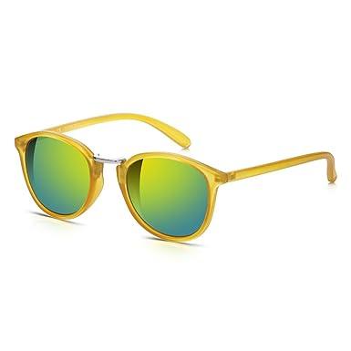 Sung Lass Junkie Retro redondas gafas de sol para hombre y mujer