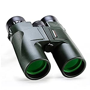 USCAMEL Binoculars Compact for Bird Watching, 10x42 Military HD Professional Hunting Telescope - Army Green