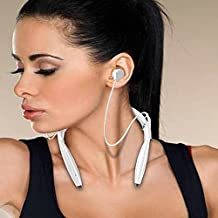 CEStore? H1 Bluetooth 4.0 Stereo Wireless Sweat resistant Headset Headphones Earbuds 8 Hours Music Streaming Hands-free Talking, Potent Bass, Built-in Mic for Apple Samsung HTC Sony Nokia LG PC White by CEStore