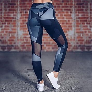SEXSUNG Pantalones de Punto de Pantalla con Cuatro Agujas de ...
