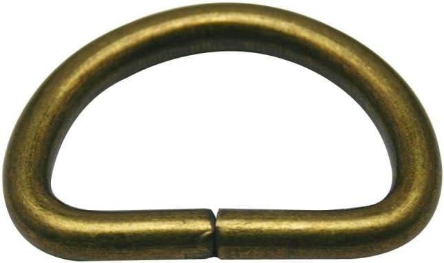 Generic Metal Bronze D Ring Buckle 1.25 Inside Diameter Loop Ring for Strap Keeper by Generic