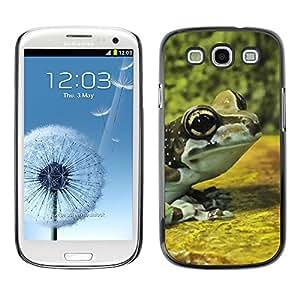 TopCaseStore / la caja del caucho duro de la cubierta de protección de la piel - Frog Yellow Nature Forest - Samsung Galaxy S3 I9300