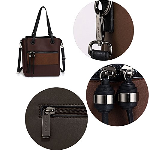 Gorgeous Shoulder With Work SAVE FREE Front Black Tassel 50 Bag Pocket UK Coffee DELIVERY Metal fxcaWTrxZn