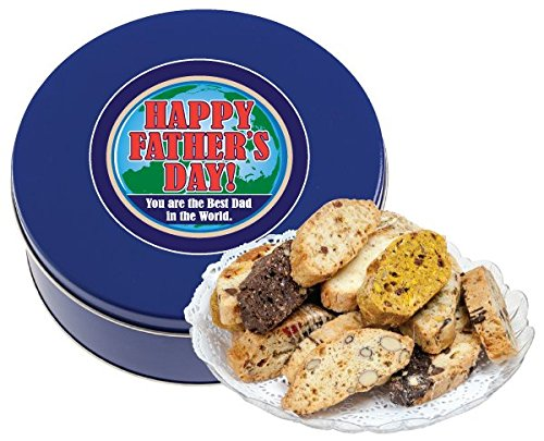 FATHER'S DAY BISCOTTI TIN 1 LB (FRESH, ASSORTED)