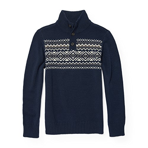 The Children's Place Big Boys' Mock Neck Sweater, Tidal 87568, M (7/8) by The Children's Place