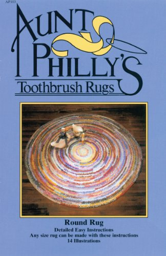 Aunt Philly's Toothbrush Rugs-Round Rug (Toothbrush Rag Rug)
