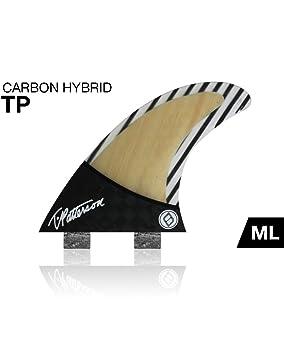Shapers carbono híbrido Timmy Patterson bambú tabla de surf juego de alerones,
