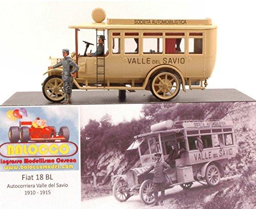 FIAT 18BL AUTOCORRIERA VALLESAVIO 1910-1915 ED.LIM.PCS 50 1 43 Rio Taxi modello modellino die cast