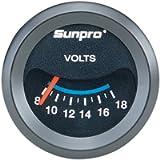 Sunpro CP7985 CustomLine Electrical Voltmeter - Black Dial