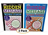 Hidden Message Book Puzzle | Jumbo (2 Pack) Word Search Seek, Find & Circle. Leftover Letters Reveal a Quote
