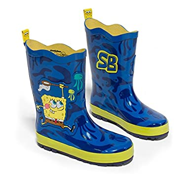 2c291842fdb Amazon.com  Nickelodeon Little Boys  SpongeBob Rain Boots
