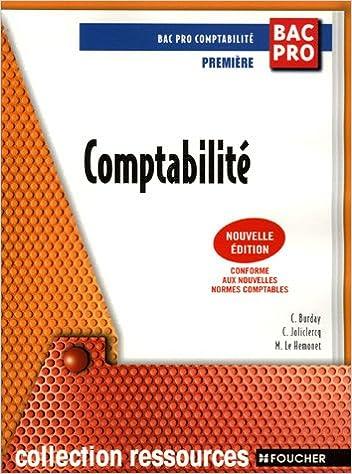 En ligne téléchargement Comptabilité 1e Bac Pro pdf, epub