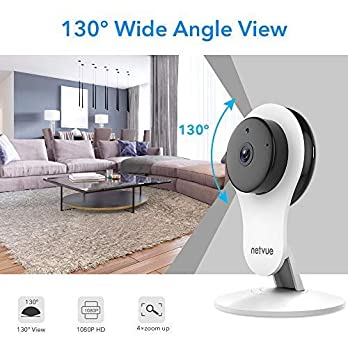 Security Camera – 1080P Indoor Camera, Smart Wireless Camera with Motion Detection & AI Human Detection, Cloud Storage, 2-Way Audio, Night Vision, Indoor Pet Camera Alexa Compatible (4 Pack)
