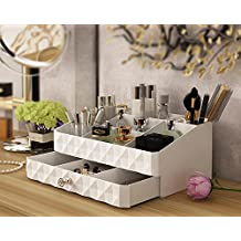 Osier Fashion Double Layer Make up Storage Box Jewelry Accessories Beauty Organizer