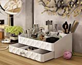 Tingya Fashion Double Layer Make up Storage Box Jewelry Accessories Beauty Organizer