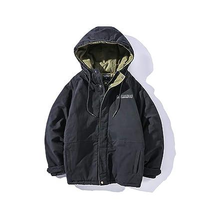 Abrigo De Algodón Oversize Winter New Coat Grueso, Color Puro Suelta Chaqueta Informal Abajo (