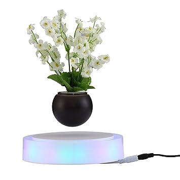 Decdeal Magnet Blumentopf Schwimmende Bonsai Mit Bunt LED Basis EU Stecker