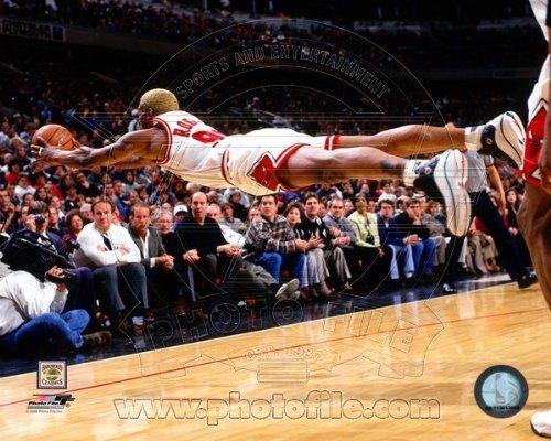 Dennis Rodman Chicago Bulls NBA Action Photo #3