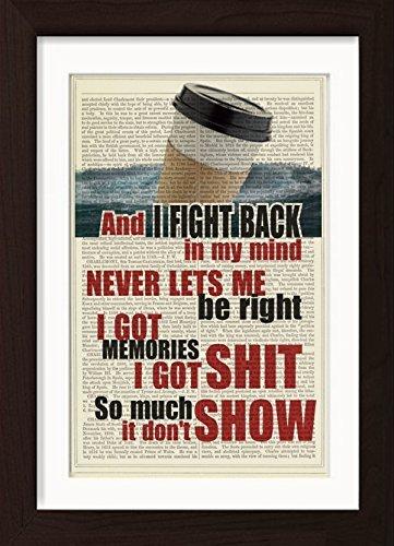 Amazoncom Pearl Jam Inspired I Got Id Lyric Mounted Matted Ready