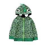 Jchen(TM) Clearance Kids Baby Little Boys Girls Autumn Cartoon Animal Hooded Warm Coat Cloak Tops for 0-4 Y (Age: 0-12 Months, Light Green)