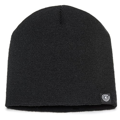 (Evony Original Beanie Cap, Soft Knit Beanie Hat Black, Warm and Durable for Winter Black One Size )