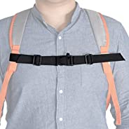MOOCY Adjustable Universal Fit Sternum Strap Backpack Chest Harness Buckle with Emergency Whistle