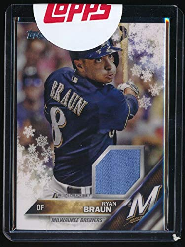 RYAN BRAUN 2016 TOPPS WALMART HOLIDAY SNOWFLAKE JERSEY *MILWAUKEE BREWERS*
