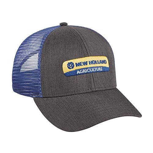 New Holland Heather Grey Twill with Blue Mesh Back Cap from New Holland