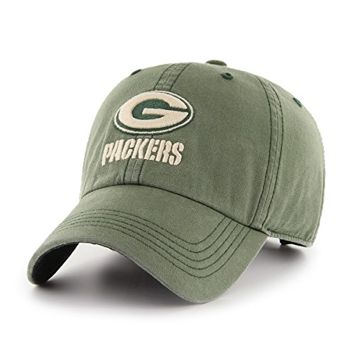 NFL Green Bay Packers Deck Hand OTS Challenger Adjustable Hat, Bottle Green, One Size