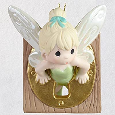 2018 Hallmark Limited Edition Disney Peter Pan Tinker Bell Precious Moments Porcelain Ornament