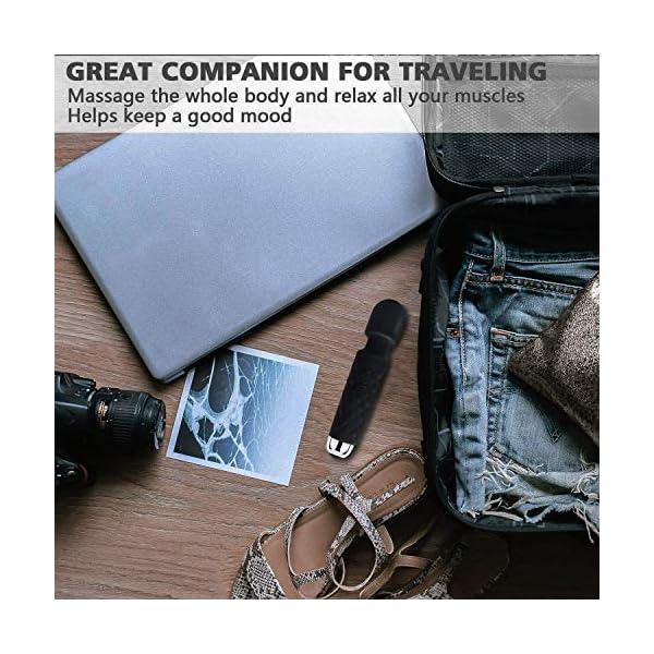 Mini Masseur sans fil de YUECHAO – Le plus puissant pouvoir vibratoire thérapeutique – un cadeau de voyage – Parfait…