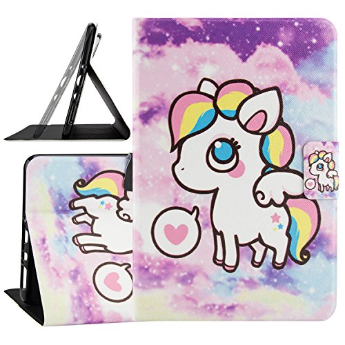 SM-T350 Case, Galaxy Tab A 8.0 2015 Case, Dteck Ultra Slim Thin Flip Folio Cute Smart Stand Case with [Auto Sleep/Wake] Synthetic Leather Wallet Cover for Samsung Galaxy Tab A 8.0-Little Pony