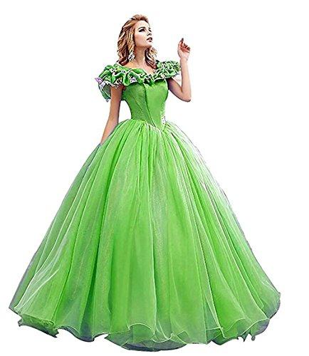 Snowskite Women's Princess Costume Butterfly Ball Gown Cinderella Quinceanera Dress Green 10 -