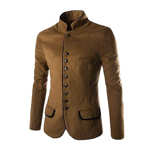 Los Hombres de Moda otoño Invierno botón Escudo de Manga Larga suéter de la Rebeca Blusa Superior por Internet: Amazon.es: Ropa y accesorios