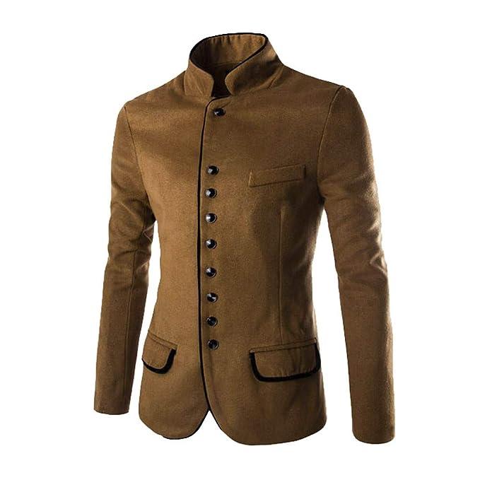 Chaqueta Hombre, Moda Hombre otoño Invierno botón Abrigo Manga Larga Cardigan suéter Tops Blusa chándal Chaqueta Sudadera Jersey Outwear: Amazon.es: Ropa y ...