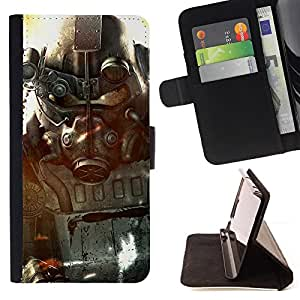 For Samsung Galaxy Core Prime Fall0ut Soldier Style PU Leather Case Wallet Flip Stand Flap Closure Cover