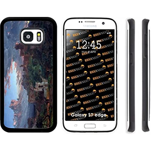 Rikki Knight Frances Cropsey Art The Spirit of War Design Samsung Galaxy S7 Edge Case Cover (Black Rubber with Sales