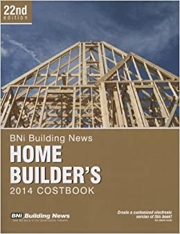 BNI Building News Home Builder's Costbook 2014