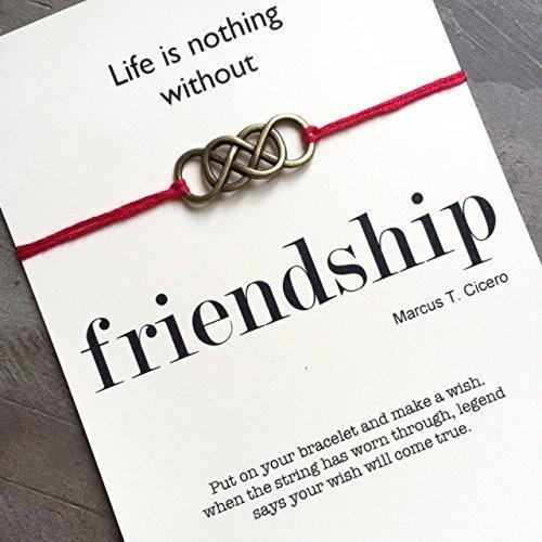 Friendship Bracelet String, Silver Infinity Bracelet, Wish Bracelet, Inspirational Quote Card, Best Friend Bracelet, BFF Bracelet, Quote Cards, String…