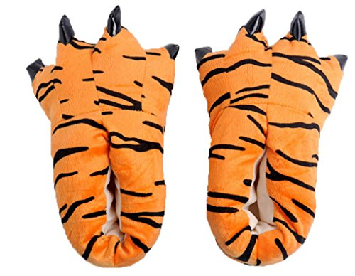 Furry Costume Patterns - Gebaozhen New Style Stuffed Animal Claw Slippers,Fun Costume Play & Everyday Furry Animal Plush Paw for Kids & Adults Wear (S, Leopard Pattern)