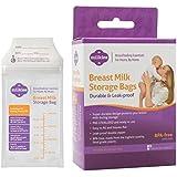 """Milkies """"No-Break, No-Leak"""" Breast Milk Storage Bags, 50-count, BPA-Free"""