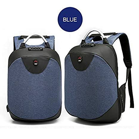 Lock 16inch Laptop Backpack Anti Theft Mens Travel Bag with USB Charging Port