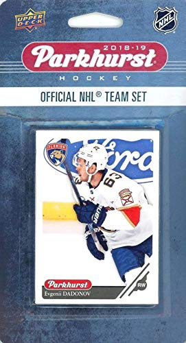 Florida Panthers 2018/19 Upper Deck Parkhurst NHL Hockey EXCLUSIVE Limited Edition Factory Sealed 10 Card Team Set including Jonathan Huberdeau, Aleksander Barkov & all the Top Stars & RC's! WOWZZER!